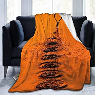 Micro Fleece Plush Soft Baby Blanket Lift Flying Water Orange Bird Fluffy Warm Toddler Bed/Crib Blanket Lightweight Flannel Daycare Nap Kids Sleeping Tummy Time Throw Blanket Girls Boy Clearance