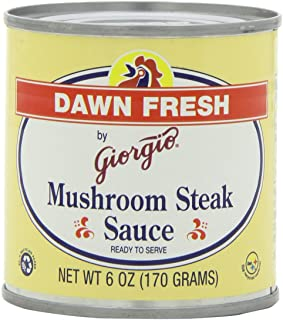 Giorgio Dawn Fresh Mushroom Steak Sauce, 6-Ounce (Pack of 12)