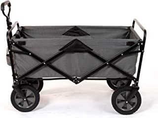 Mac Sports Collapsible Folding Steel Frame Outdoor Garden Camping Wagon, Gray