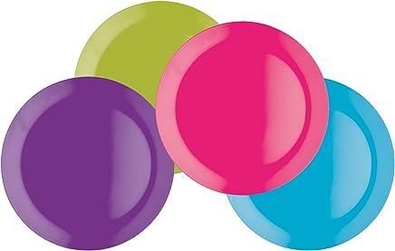 Preisvergleich für Colourworks Vierteiliges Melamin-Snackteller-Set, 23cm