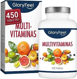 Multivitaminas y Minerales - 450 Comprimidos Multivitamínicos veganos - Todas las vitaminas y minerales de la a-z - Para el sistema inmunológico - Para más de 1 año - Para Hombres y Mujeres