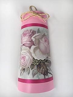 teja decorada con rosas