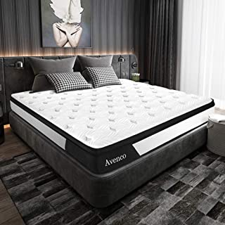 Twin Mattress, Avenco Hybrid Mattress Twin, 10 Inch Innerspring and Gel Memory Foam Mattress in a Box, with CertiPUR-US Fo...
