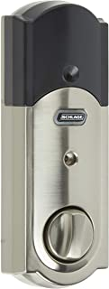 SCHLAGE Z-Wave Connect Camelot Touchscreen Deadbolt with Built-In Alarm, Satin Nickel, BE469 CAM 619, Works with Alexa via...