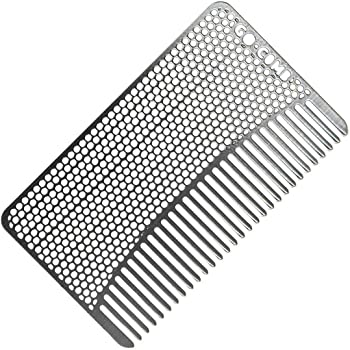 Go-Comb - Wallet Comb - Sleek, Durable Stainless Steel Hair + Beard Comb