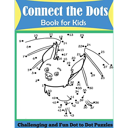 ddb843ac574 Connect the Dots Book for Kids  Challenging and Fun Dot to Dot Puzzles