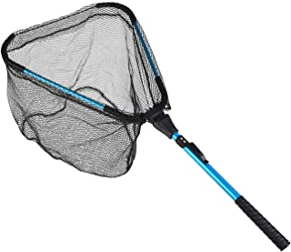D-GROEE Folding Fishing Net, Triangle Foldable Telescopic Rod Rubber Coated for Salmon, Walleye, Catfish, Bass, Trout for ...
