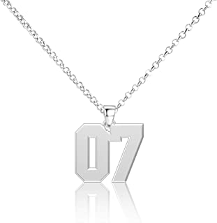 Elefezar Personalized Stainless Steel Baseball Dog Tag Necklace Custom Any Name and Numbers