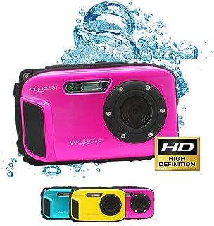Aquapix W1627 Ocean Cámara Digital con Batería de Ion de Litio Rosa