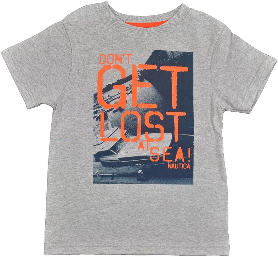 Nautica Little Boys Gray Don't Get Lost at Sea Fashion T-Shirt