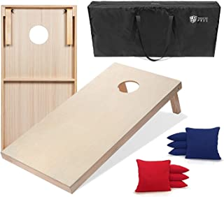 Tailgating Pros 4'x2' Cornhole Boards W/Red & Royal Cornhole Bags & Carrying Case