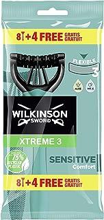 Wilkinson Sword Xtreme jednorazowe golarki 3 czułe ostrza dla mężczyzn z 2 paskami smarującymi z aloesem i witaminą - 40 g