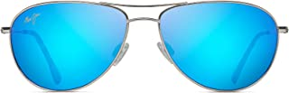 Sea House B772-17 | Polarized Aviator Frame Sunglasses, Silver-Blue Hawaii, with Patented PolarizedPlus2 Lens Technology