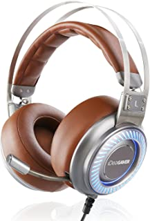 Gaming Headset, iDeaUSA Gaming Headphones 7.1 Surround Sound Headphones USB Over Ear Headphones with Detachable