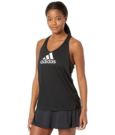 adidas AEROREADY Designed 2 Move Logo Sport Tank Top (Black/White) Women