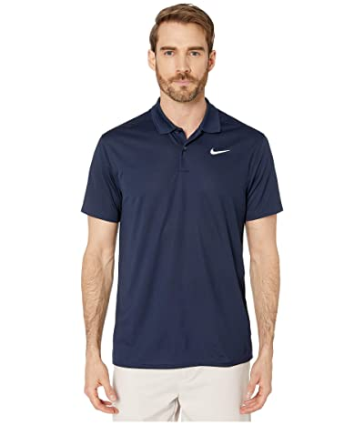 Nike Golf Dry Victory Polo Solid (Obsidian/White) Men