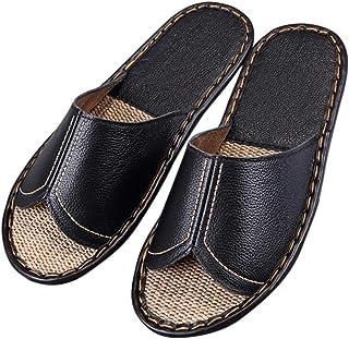KHUY Zapatillas para Hombre Zapatillas de Estar por Casa de Lino Interior Sandalias de Playa Verano Primavera Otoño Zapati...
