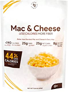 Fiber Gourmet Mac and Cheese - Healthy & Cheesy Macaroni Noodles - Fiber-Rich, Low Calorie Instant Pasta - Made in USA, Ko...
