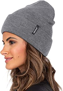 FURTALK Womens Beanie Hat Acrylic Knit Cuffed Hat Soft Warm Winter Hats, Ladies Cuff Beanie Hat for Women