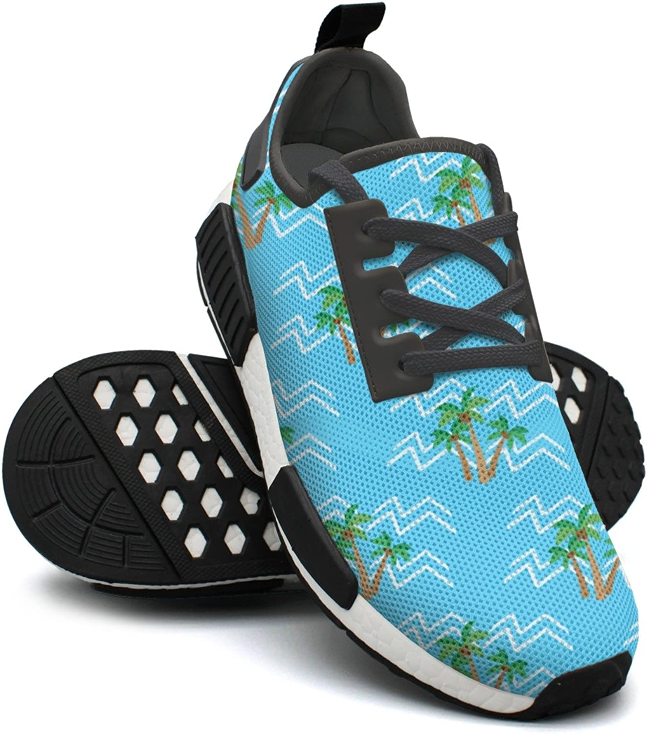 Tropical Coconut Palm Trees Printed Lace-up Running shoes Nmd Sport Casual shoes