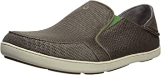 OLUKAI Nohea Mesh Shoes- Mens Mustang/Lime Peel