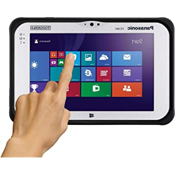 "Panasonic Toughpad FZ-M1, Core i5 4302Y @1.60GHz, 7"" WXGA Gloved Multi Touch, 128GB SSD, 4GB, Wifi, Bluetooth, SmartCard Reader, 2D Bar Laser (EA30),2 Cameras, Bridge Battery, Windows 10 Pro (Renewed)"