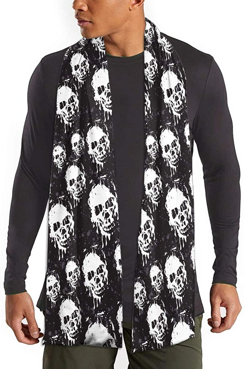 Stylized Skull Winter Fall Fashion Scarf Warm Long Soft Neckerchief For Men And Women