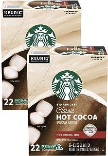 Starbucks K Cups Classic Hot Cocoa - 44 K Cups Total - Pack of 2 Boxes - 22 K Cups Per Box - Bulk Starbucks Hot Cocoa K Cu...