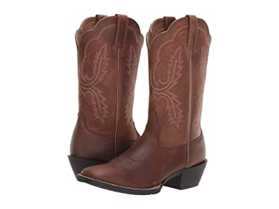 Ariat Hybrid Rancher (Crossfire Distressed Brown) Cowboy Boots