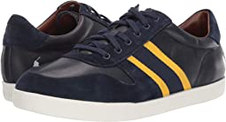 Newport Navy/Gold Bugle/Egret Leather/Suede