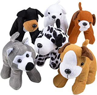 Bedwina Plush Puppy Dogs - (Pack of 12) 6 Inches Tall Stuffed Animals Bulk Assorted Puppies and Cute Stuffed Plushed Dog P...