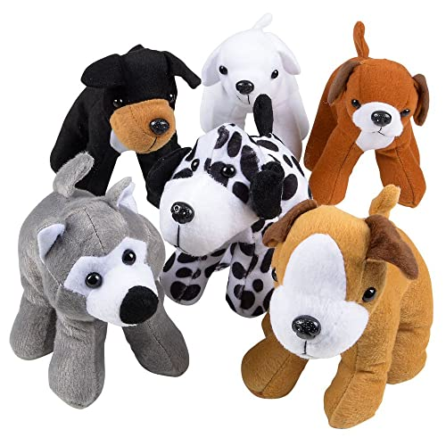 351dc9f5bf3 Bedwina Plush Puppy Dogs - (Pack of 12) 6 Inches Tall Stuffed Animals Bulk
