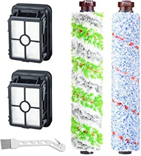 RONGJU 1 Pack 2306 Multi-Surface Pet Pro Brush Roll + 1 Pack 1868 Multi-Surface Brush Roll + 2 Packs 1866 Vacuum Filters Replacement Part for Bissell CrossWave Vacuum Cleaner, Compare to Part 1613568&