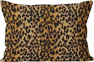 Skully Pretty Leopard Skin Animal Print Hidden Zipper Home Decorative Rectangle Throw Pillow Cover Cushion Case 16x24 Inch One Side Design Printed Pillowcase