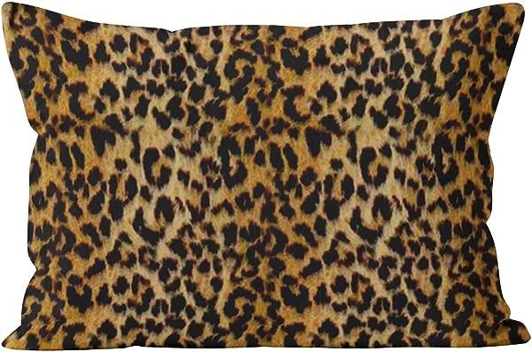 Skully Hot Lumbar Leopard Skin Animal Print Hidden Zipper Home Decorative Rectangle Throw Pillow Cover Cushion Case 12x24 Inch One Side Design Printed Pillowcase