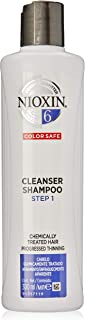Nioxin System 6 Cleanser Shampoo for Chemically Treated Hair with Progressed Thinning