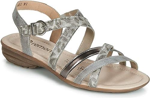 Remonte Multi Strap Adjustable Flat Sandal