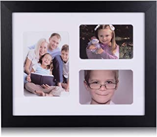11x14 Picture Frame Collage - Display 4x6 and 5x7 Photos - Wall Frames w/3 Openings Mat
