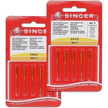 Pack de 10 Agujas para Máquinas de Coser Singer 2045 Grosor 80/12 ...