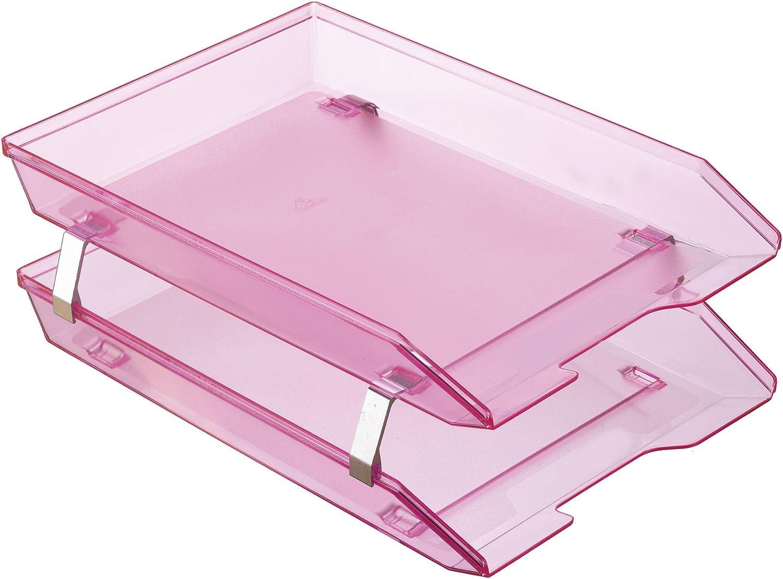Acrimet Super sale period limited Facility 2 Tier Letter Tray Load Desktop F Plastic Soldering Front