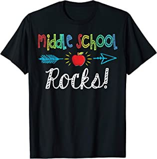 Middle School Rocks! Tshirt Funny Back to School Gift