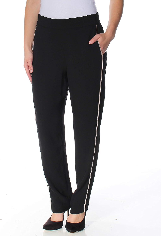 1.State Womens Metallic Stripe Casual Trousers