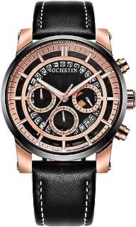 OCHSTIN Business Men Watch Leather Strap Quartz Sport Wristwatch Calendar Fashion Casual Male Watches