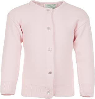 Julius Berger Girls White Cotton - Super Soft Feels Like Cashmere - Cardigan