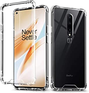 IDweel OnePlus 8 Case, 1+8 Case Crystal Clear Soft TPU Transparent Bumper Shock Absorption Technology Raised Bezels Slim P...