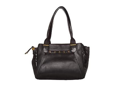 The Sak Serena Satchel by The Sak Collective (Black Souk Embossed) Handbags