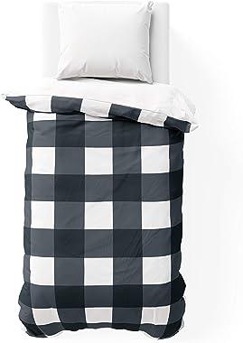 Unknown1 Buffalo Check Navy College Dorm Comforter Blue