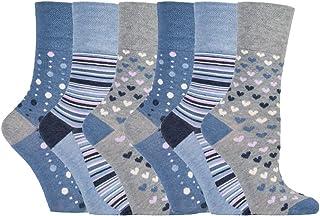 6 pares mujer fantasia bambu calcetines sin elasticos para la circulacion