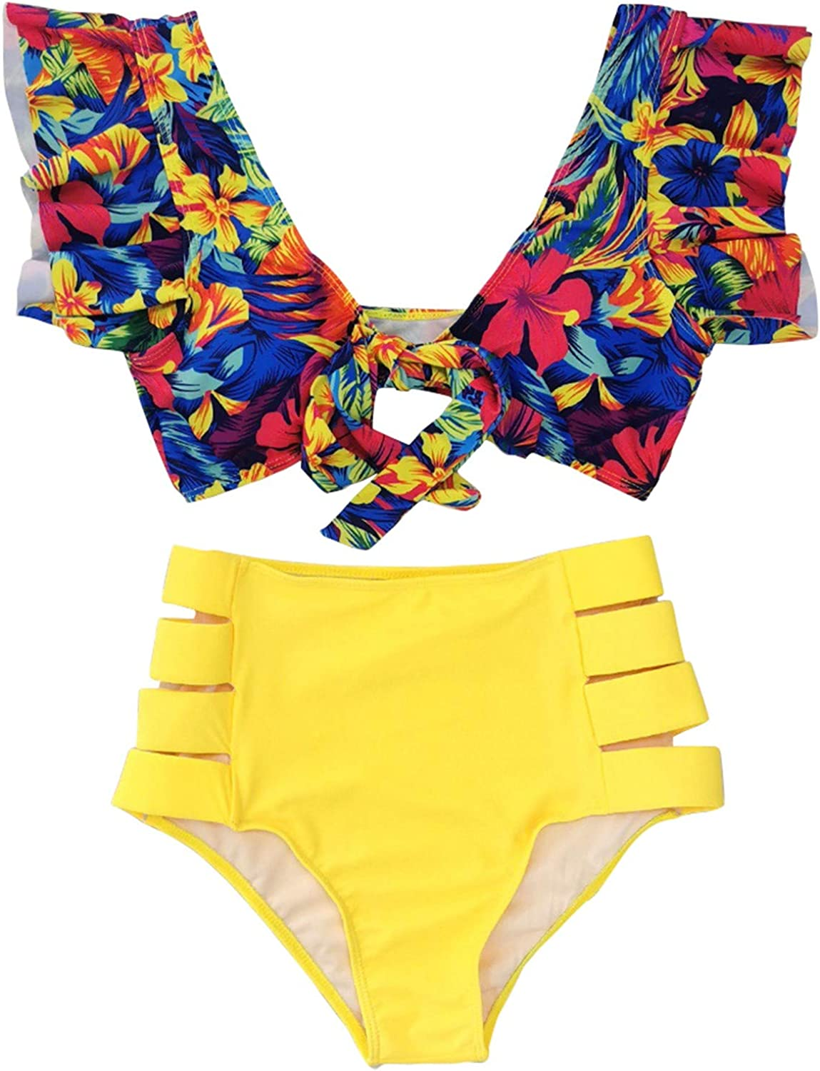 Xiloccer Swimsuits for Women Bikini Set Two Piece Swimsuit Cute Bathing Suits Summer Beach Swimwear Cover Up Swimsuits