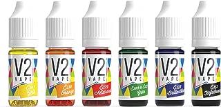 V2 Colorante alimentario de Vaina Extremadamente Concentrado, líquido para Colorear Bebidas, masas, coberturas y Todos los demás Productos alimenticios Set de 6 Colores